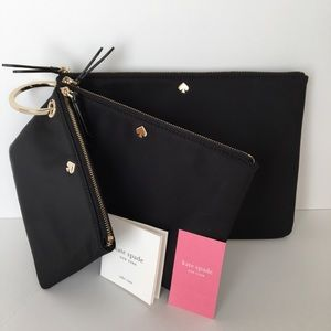 NEW! Kate Spade Triple Pouch Dawn Set Cosmetic Bag